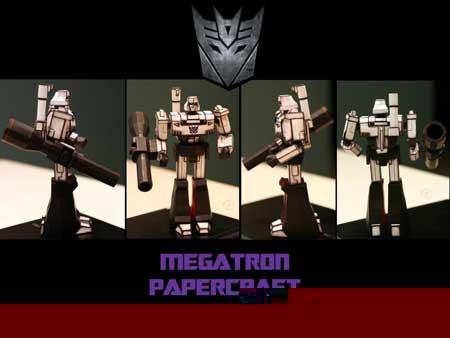 Les jouets en papier Transformers-papercraft-g1-megatron-01