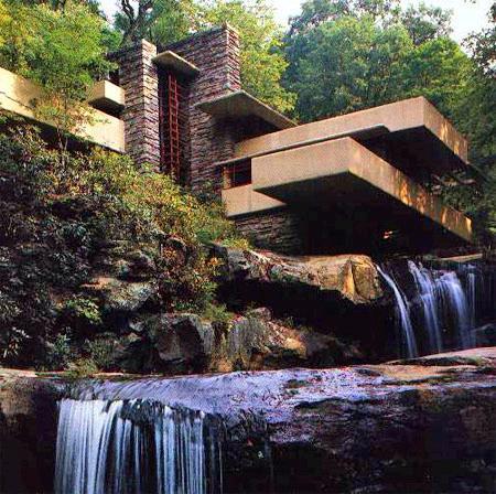 Constructions de frank lloyd wright - La maison sur la cascade frank lloyd wright ...