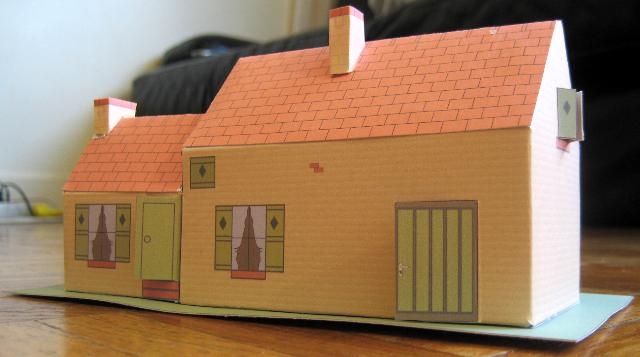 Trois maisons de campagne - Maison en papier a imprimer ...