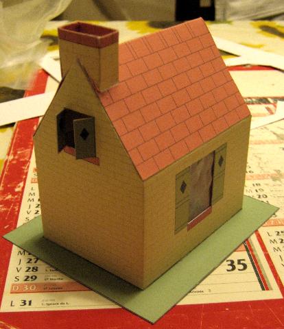 Trois maisons de campagne for Maison papier a decouper