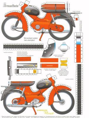 maquette moto en papier. Black Bedroom Furniture Sets. Home Design Ideas